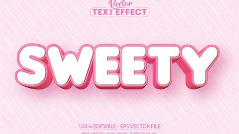 Sweet text, cartoon style editable text effect