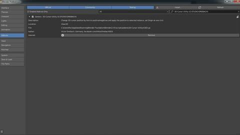 3D Cursor Utility(GSD) for Blender 3D v2.80+