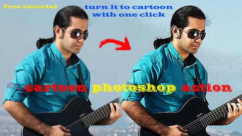 Photoshop Action  [Turn it to cartoon]