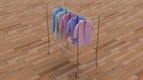 Textured Hanged shirts Rack