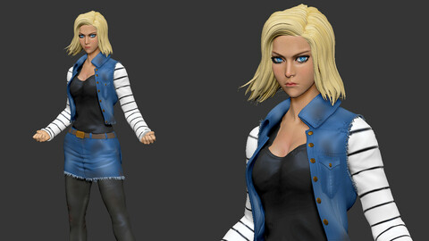 Android 18 3D model