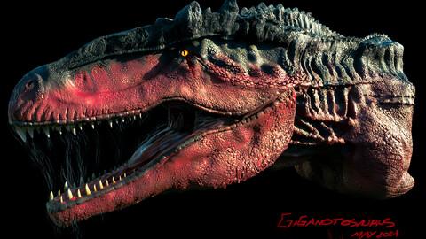 GIGANOTOSAURUS HEAD 3D model!
