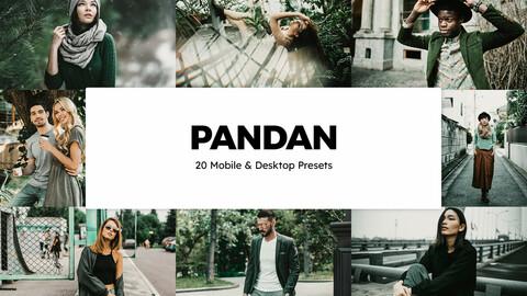 20 Pandan LUTs and Lightroom Presets