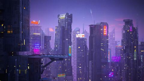 Scifi building futuristic building