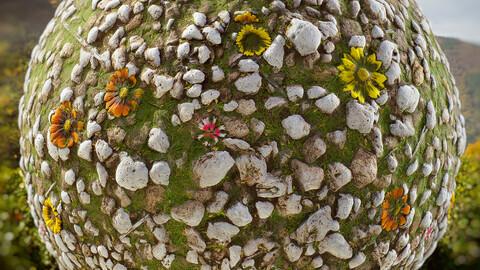 PBR - SPRING SOIL, GRASS, FLOWERS, LANDSCAPE, STONES - 4K MATERIAL