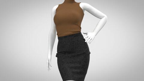 Female Outfit . Marvelous Designer , Clo3D