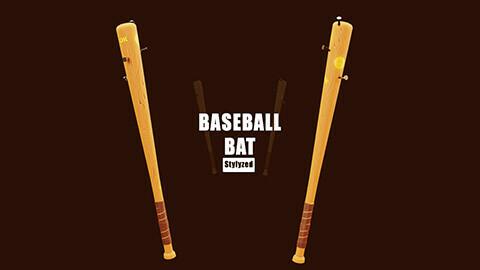 stylized baseball bat