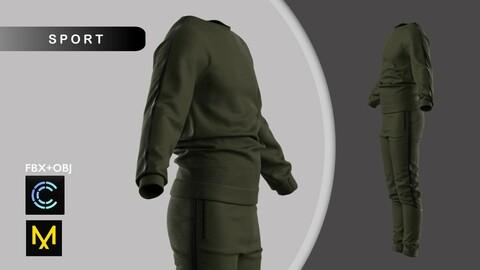 Male Sport Outfit II Marvelous Designer/Clo3d project + OBJ + FBX