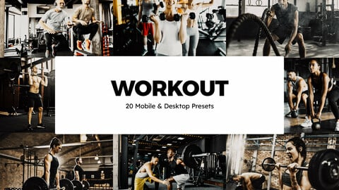 20 Workout LUTs and Lightroom Presets
