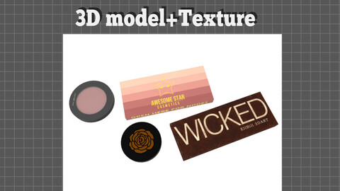 Cosmetic set Eye shadow Shading - 3D model