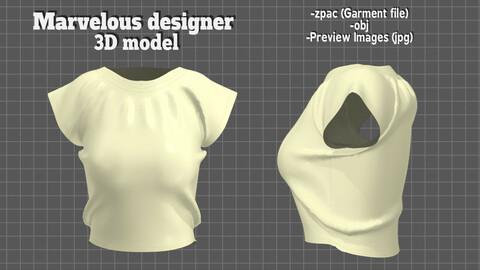 Women clothes Blouse - Free 3D model
