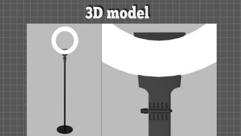 Ring light stand O light stand Makeup light stand - 3D model