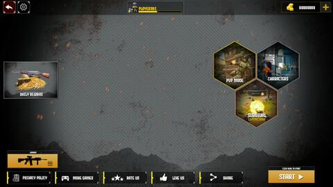 cover strike shooting game UI/UX
