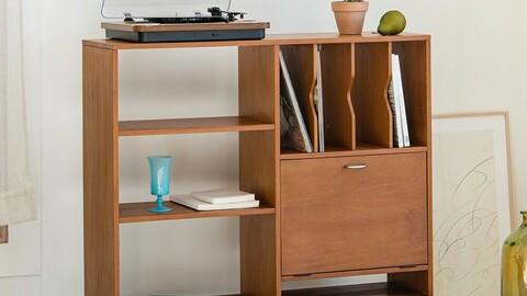 Boette Bookshelf Cabinet