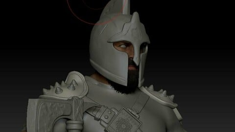 Warrior Zbrush high poly model
