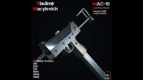 MAC-10 Low-Poly