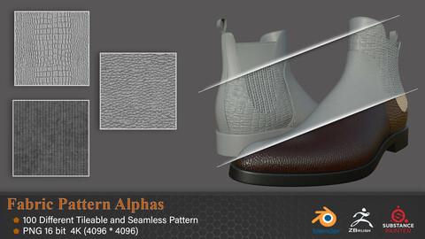Fabric Pattern Alphas