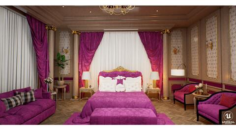 Luxurious Interior - UE4 | FBX | MAX