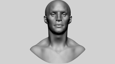Base Male Head 03
