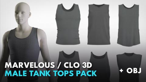 Male tank tops pack. MD / CLO 3D / Genesis 8 (zprj + obj)
