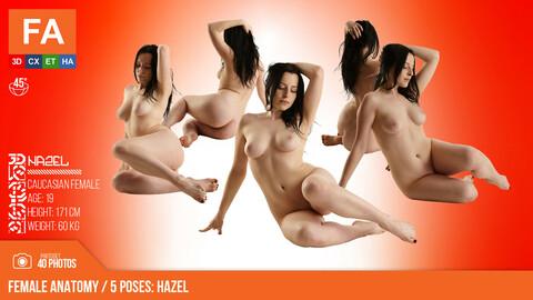 Female Anatomy | Hazel 5 Various Poses | 40 Photos