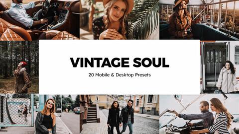 20 Vintage Soul LUTs and Lightroom Presets