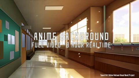 Anime Backrgound Halway - Full Video process ~8 hour