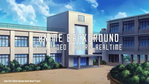 Anime Backrgound School - Full Video process 5+ hour