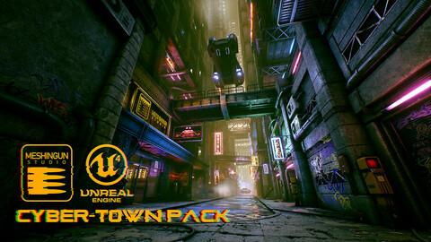 Cyber Town Pack by Meshingun Studio