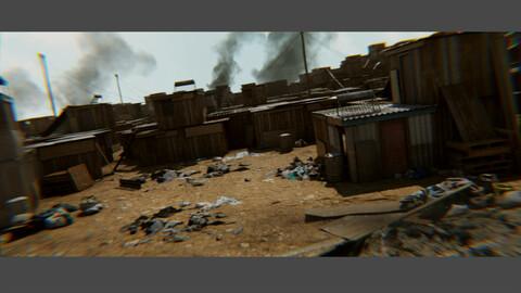 The 3rd World - Informal Settlement Slums Refugee Camp Favela Shanti Assets And Scene