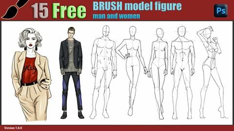 15 free brush model figure
