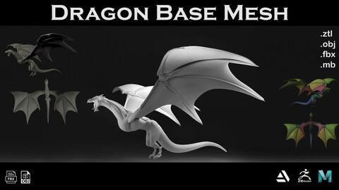 Dragon Base Mesh