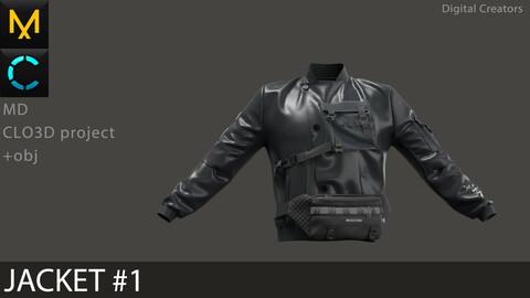 Jacket #1 / Marvelous Designer / Clo 3D project + obj