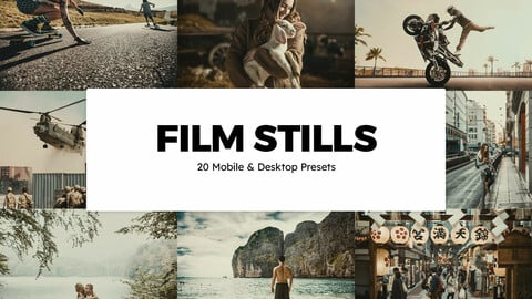 20 Film Stills LUTs and Lightroom Presets