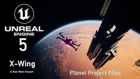 X-Wing A Star Wars Fanart [UE-5] Planet
