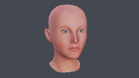 Female Head Textured