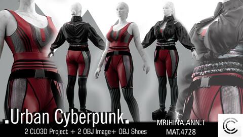 .Urban Cyberpunk. Clo3d, Marvelous Designer.