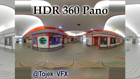 HDR 360 Panorama Little Tokyo Village 75 - DTLA - mall interior toy stores