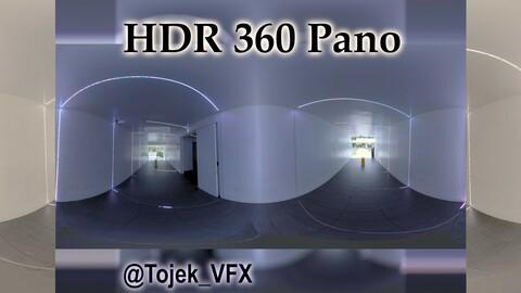 HDR 360 Panorama Little Tokyo - Weller Court 97 - interior LED hallway