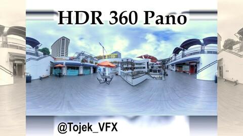 HDR 360 Panorama Little Tokyo - Weller Court 108 - exterior 2nd floor restaurants