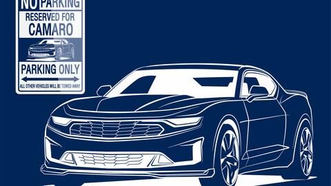 DIGITAL FILE VECTOR / Sign Parking CAMARO Only