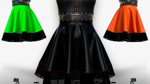 New women gothic punk dress for