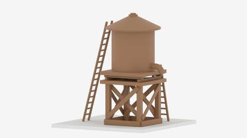 Farm Wooden Water Tower