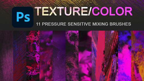 Texture and color mixing brushes.