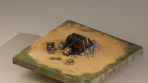 Gold Mine Level 5 3D Model
