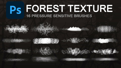 Forest texture brushes