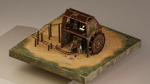 Gold Mine Level 15 3D Model