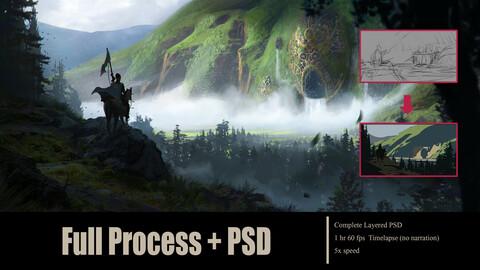 Kokanaka Falls PSD + Process video