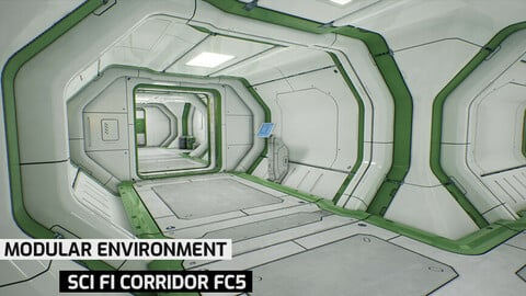 Modular Sci Fi Corridor FC5