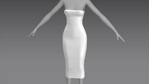 Tube Dress OBJ + ZPRJ